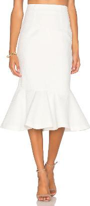 By Johnny , Waffle Drop Flare Skirt