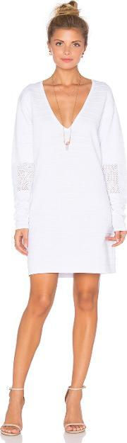 Callahan , Perforated Deep V Mini Dress
