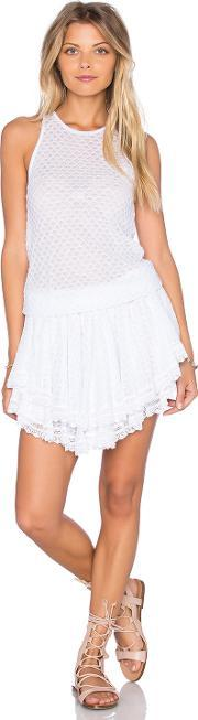 Cecilia Prado , Lucia Tiered Crochet Mini Dress