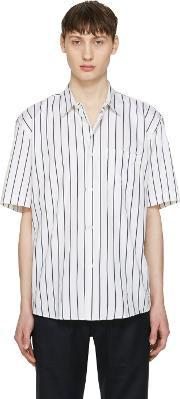 Our Legacy , White Striped Initial Shirt