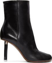 Vetements , Black Leather Ankle Boots