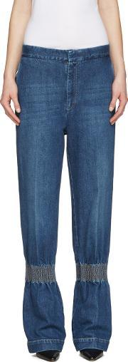 Stella Mccartney , Blue Ruched Jeans