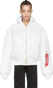 Vetements , Reversible White Alpha Industries Edition Bomber Jacket