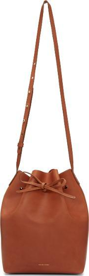 Mansur Gavriel , Brown Leather Bucket Bag