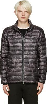 Isaora , Ssense Exclusive Grey Quilted Camo Down Jacket