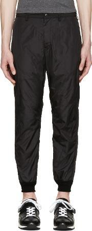 08sircus , Black Quilted Nylon Trousers