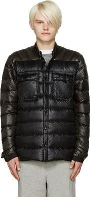 Isaora , Ssense Exclusive Green And Black Down Jacket