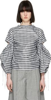 Toga , Black And White Gingham Blouse