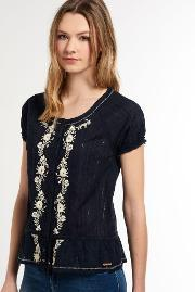 Superdry , Folk Embroidery Blouse