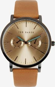 Ted Baker , Sunray Dial Watch Tan