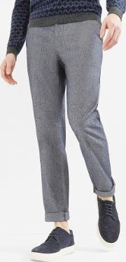 Ted Baker , Classic Fit Cotton Trousers Navy