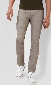 Ted Baker , Slim Fit Twill Trousers Brown
