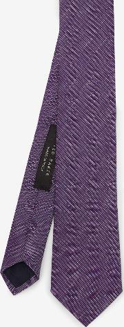 Ted Baker , Linen And Silk-blend Tie Purple
