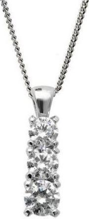 Mastercut , 18ct Three Stone .50ct Diamond Pendant C5pe002 050w
