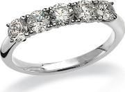 Mastercut , 18ct White Gold 5 Stone Diamond .75ct Ring C5rg005