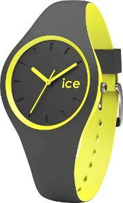 Icewatch , Ice-watch Mens Ice Duo Grey Yellow Strap Watch Duo.ayw.s.s.16