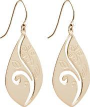 Topaz , Silver Cut Out Floral Leaf Earrings Ep-2070