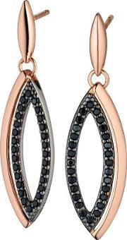 Fiorelli , Ladies Rose Gold Plated Marquise Open Dropper Earrings E5188b