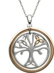 House Of Lor , Silver Rose Gold Tree Of Life Pendant H-40033