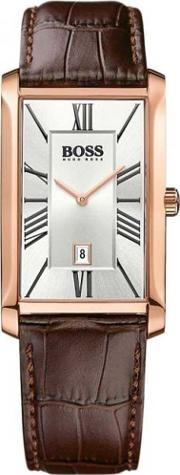 Hugo Boss , Mens Admiral Rose Gold Plated Strap Watch 1513436