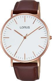 Lorus , Mens Rose Gold Plated Watch Rh880bx9