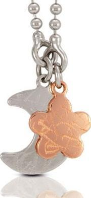 Nomination , Elba Silver Moon Rose Gold Plated Flower Pendant 142520-0 013