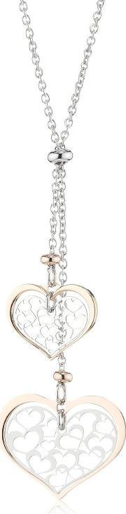 Nomination , Romantica Rose Gold Plated Hearts Pendant 141523-0 011