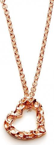 Rachel Galley , Love Heart Rose Gold Plated Large Heart Pendant H100rg