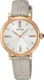 Seiko , Ladies Rose Gold Plated Watch Sfq812p1
