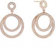 Sif Jakobs , Ladies Rose Gold-plated 'citerna' White Cubic Zirconia Circle Earrings Sj-e2212-cz(rg)