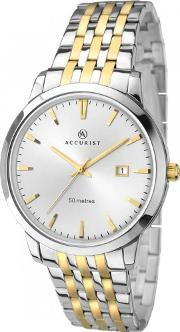 Accurist , London Mens Two Tone Watch 7018