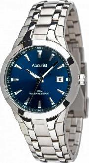 Accurist , Mens Stainless Steel Watch Mb860n