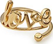 Alex And Ani , Love- Gold Plated Adjustable Ring A17rw01g