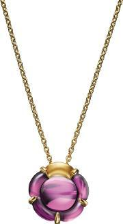 Baccarat , B Flower Gold Plated Pink Crystal Flower Necklace 2803359