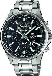 Casio , Mens Edifice Dual Display World Time Bracelet Watch Efr-304d-1avuef