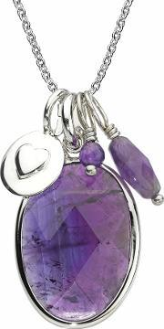 Chrysalis , Silver Blackcurrant Oval Pendant Crnm38silv18-40