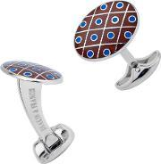 Deakin And Francis , Domed Red And Blue Dot Cufflinks C0694s0802
