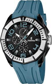 Festina , Mens Blue Strap Watch F16670-4