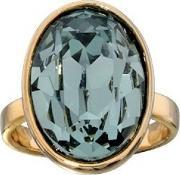 Fiorelli Costume , Gold Plated Oval Pale Blue Crystal Ring R3112