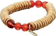 Fiorelli Costume , Gold Plated Red Beads Sweetie Bracelet B4036