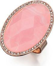 Fiorelli Costume , Rose Gold Plated Oval Pink Cubic Zirconia Adjustable Ring R3335