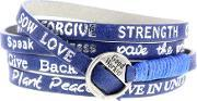 Good Works , Torino Electric Blue Leather Bracelet Wayu1225t Elect