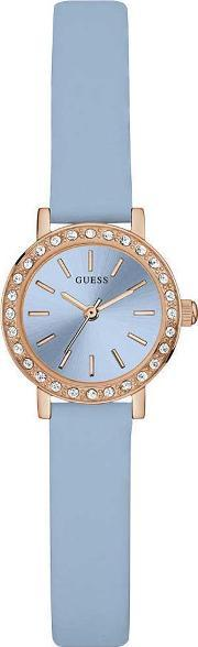 Guess , Ladies Stella Blue Leather Strap Watch W0885l6