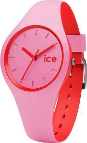 Icewatch , Ice-watch Ladies Ice Duo Pink Red Strap Watch Duo.prd.s.s.16