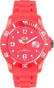 Icewatch , Ice-watch Neon Red Rubber Strap Red Dial Watch Ss.nrd.bb.s.12