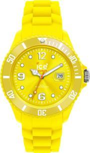 Icewatch , Ice-watch Neon Yellow Rubber Strap Yellow Dial Watch Ss.nyw.bb.s.12