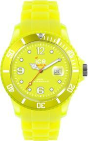 Icewatch , Ice-watch Neon Yellow Rubber Strap Yellow Dial Watch Ss.nyw.s.s.12