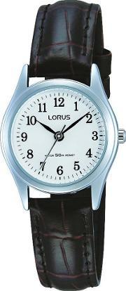 Lorus , Ladies Brown Leather Strap Watch Rs13vx9
