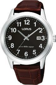Lorus , Mens Brown Leather Watch Rh927bx9