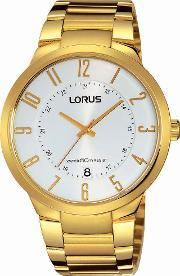 Lorus , Mens Gold Plated Watch Rs976bx9